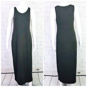 Eileen Fisher Viscose Jersey Scoop Neck Maxi Dress